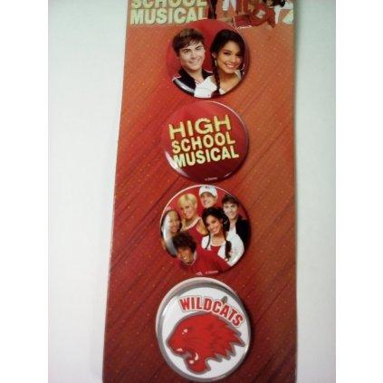 Odznaky H.School-okruhle 4 ks (Farba Neurčená, Veľkosť Neurčená)