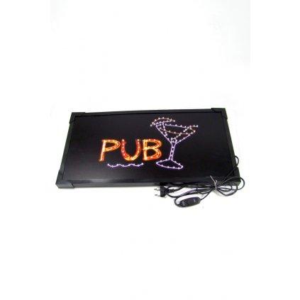 LED svietiaca reklama - PUB (Farba Neurčená, Veľkosť Neurčená)