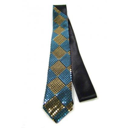 Úzka kravata - žlté flitre (Farba Žltá, Veľkosť Neurčená)