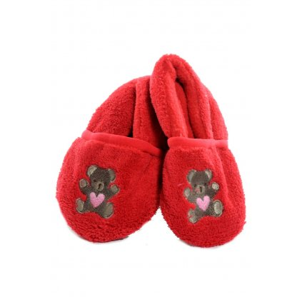 Kojenecké papučky - plyšové (Farba Tmavohnedá, Veľkosť 6-12m)