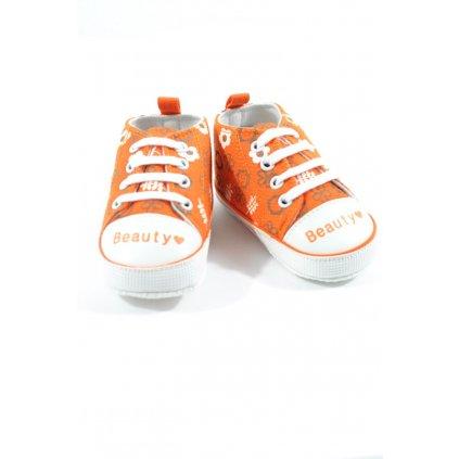 Kojenecké topánočky - beauty (Farba Oranžová, Veľkosť 6-9m)