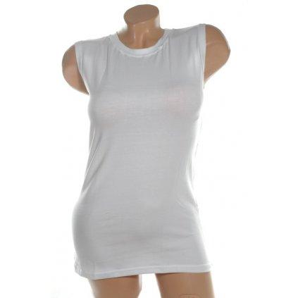 Dámske tričko bez rukávov S/M a L/XL (Farba Biela, Veľkosť L/XL)