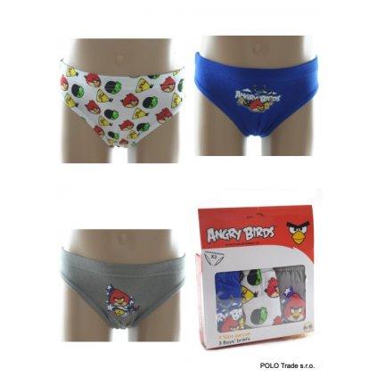 Detské slipy - Angry Birds 2/3, 3 kusy v balení (Farba Biela, Veľkosť 2/3r)