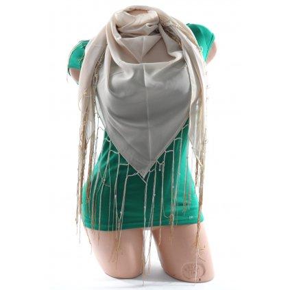 Šatka so strapcami (Farba Tmavoružová, Veľkosť 150x125cm)