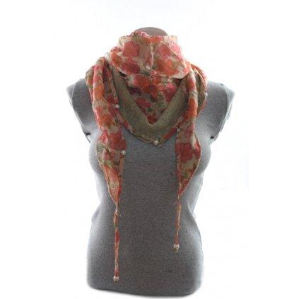Dámska šatka - perla (Farba Svetlooranžová, Veľkosť 170x100cm)