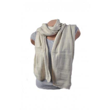 Pánsky šál - kocky (Farba Biela, Veľkosť 215x39cm)