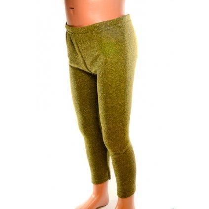 Dievčenské trblietavé legíny zelené (Farba Zelená, Veľkosť 110)