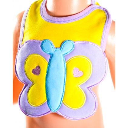 Podbradník - motýlik (Farba Žltá, Veľkosť 26x19cm)