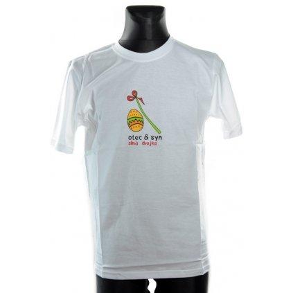 Pánske tričko - OTEC A SYN, SILNA DVOJKA velka noc (Farba Tmavozelená, Veľkosť XL)