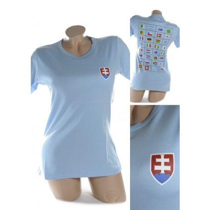 Dámske tričko - SLOVENSKO svk slovakia (Farba Svetložltá, Veľkosť 4XL)