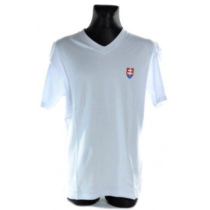 Pánske tričko - vlajky svk slovakia slovensko (Farba Biela, Veľkosť 3XL)