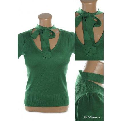Dámske tričko – jednofarebné, krátky rukáv, PoloTrade (Farba Zelená, Veľkosť S/M)