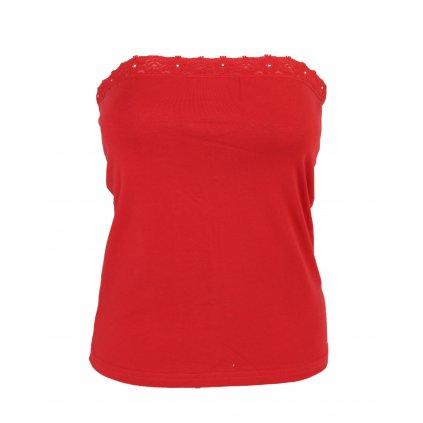 Dámsky top - kamienkový pás (Farba Červená, Veľkosť S/M)