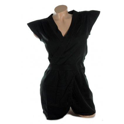 Dámske tričko - stojace rukávy (Farba Tmavozelená, Veľkosť M)
