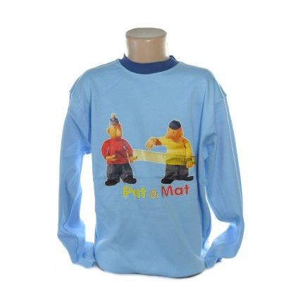 Detské tričko Pat a Mat dlhy rukav (Farba Svetlohnedá, Veľkosť 146)