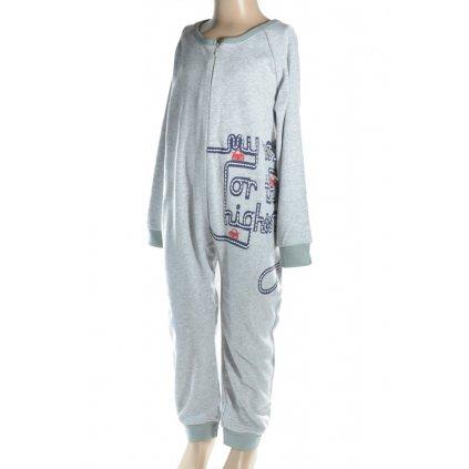 Detské pyžamo - overal MYWAY 98-110 (Farba Tmavomodrá, Veľkosť 98)