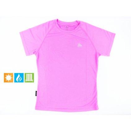 Dámske tričko - thermo (Farba Ružová, Veľkosť S)
