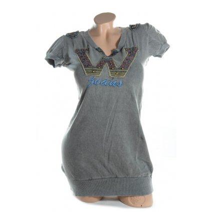 Dámske tričko - W (Farba Tmavomodrá, Veľkosť L/XL)