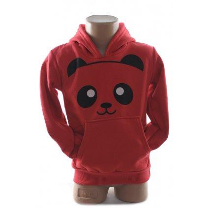 Detská mikina - Panda (Farba Tmavofialová, Veľkosť 8r)