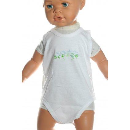 Chlapčenské kojenecké body - tielko (Farba Svetlomodrá, Veľkosť 0-3m)