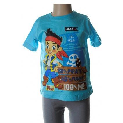 Detské tričko - JAKE ET LE - pirát (Farba Svetlošedá, Veľkosť 6r)