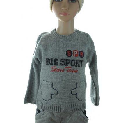 Sveter detský - Big sport 3D (Farba Tmavomodrá, Veľkosť 18-24m)
