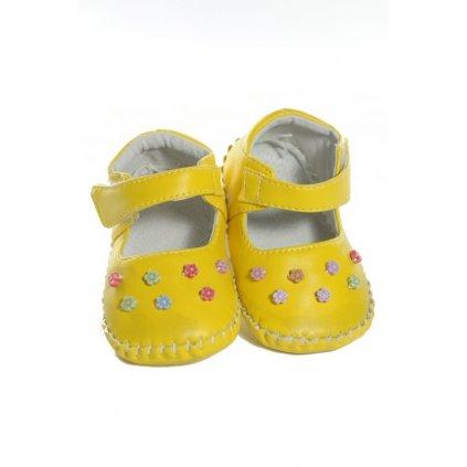 Papučky - kojenecké, 21-0544 (Farba Žltá, Veľkosť 14m)