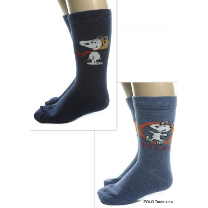 Detské Snoopy ponožky (Farba Svetlomodrá, Veľkosť 31-34)