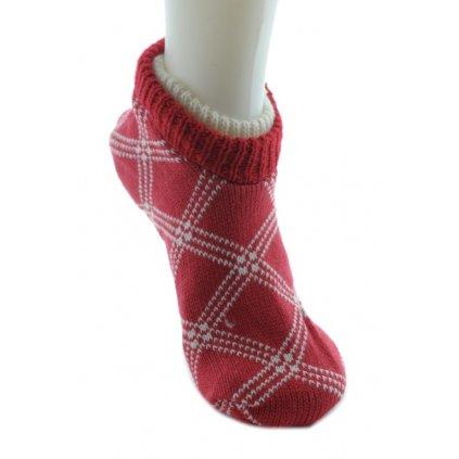 Ponožkové papuče - protišmykové, PoloTrade (Farba Tmavofialová, Veľkosť 36-40)