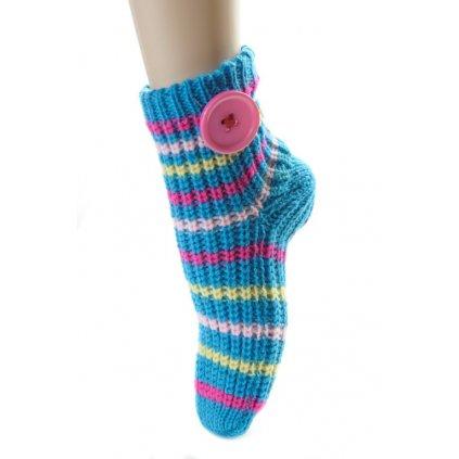 Dámske štrikované ponožky (Farba Svetloružová, Veľkosť 36-41)