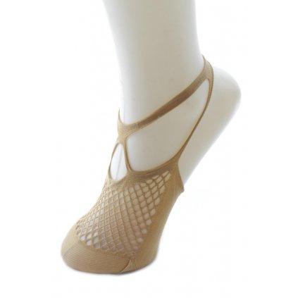 Dámske ponožky - ťapky, C-21-MP014 (Farba Čierna, Veľkosť 35-40)