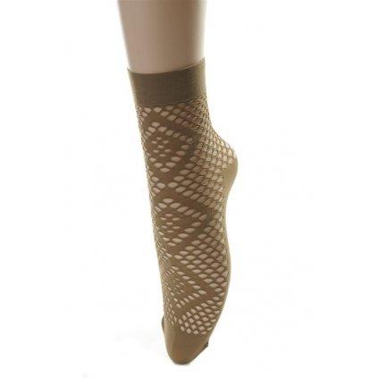 Ponožky dámske - dierkované (Farba Biela, Veľkosť 36-41)