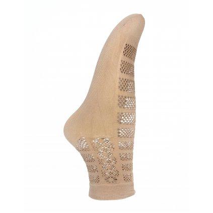 Dámske silónkové ponožky - dierky (Farba Biela, Veľkosť 36-41)