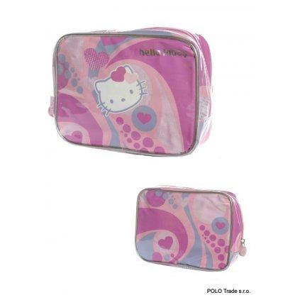 Kozmetická taška Hello Kitty srdiečka (Farba Ružová, Veľkosť 20x15x6cm)