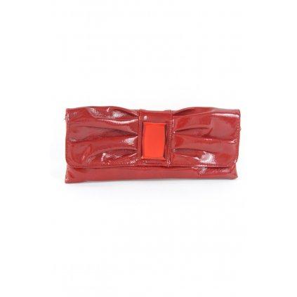 Spoločenská kabelka - mašľa 28x12x3cm (Farba Modrá, Veľkosť Neurčená)