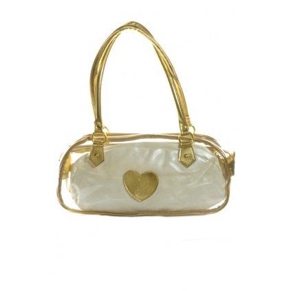 Dámska taška - priehľadná (Farba Žltá, Veľkosť 41x20x4cm)