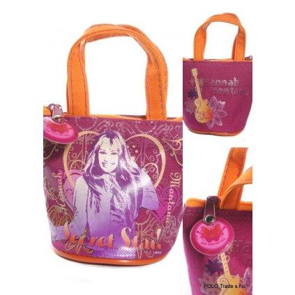 Malá taštička Hannah Montana s príveskom, PoloTrade (Farba Oranžová, Veľkosť 10x9cm)