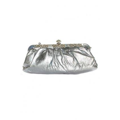 Spoločenská kabelka - metalická (Farba Ružová, Veľkosť Neurčená)