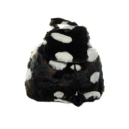 Kožušinový ruksak, PoloTrade (Farba Čierna, Veľkosť 28x25cm)
