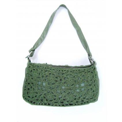 Dámska pletená taška - malá (Farba Červená, Veľkosť 37x20cm)