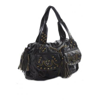 Dámska taška - vybíjaná (Farba Tmavohnedá, Veľkosť 45x40cm)