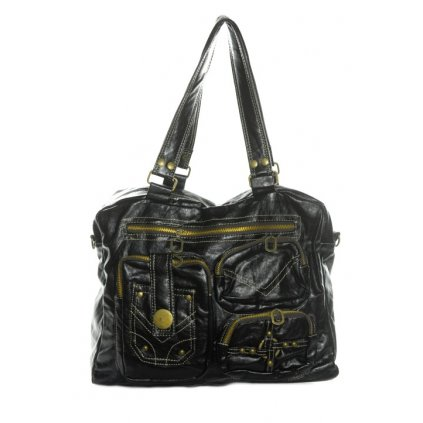 Taška dámska - s vreckami (Farba Čierna, Veľkosť 40x30cm)