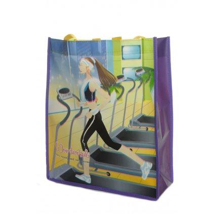 Detská taška fitnes dievča (Farba Tmavomodrá, Veľkosť 26x32cm)