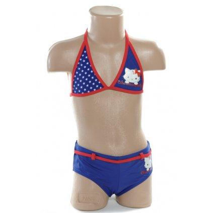 Plavky Charmmy Hello kitty - Amerika (Farba Červená, Veľkosť 12r)