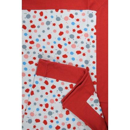 Detská deka farebné fľaky 80x94cm, PoloTrade (Farba Červená, Veľkosť 94x80cm)
