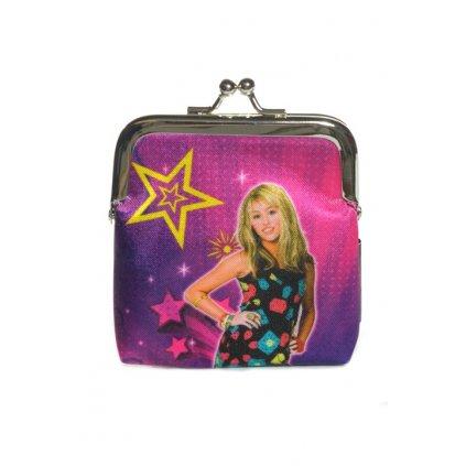 Peňaženka disney Hannah Montana (Farba Tmavofialová, Veľkosť 9x8cm)