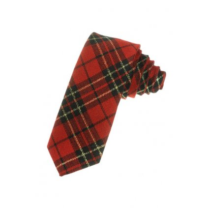 Štýlová kravata - káro (Farba Šedá, Veľkosť Neurčená)