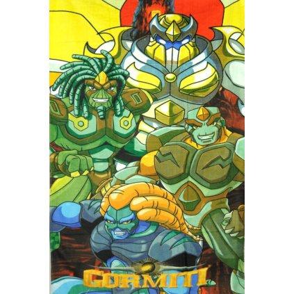 Detská osuška Gormiti 150x70cm, PoloTrade (Farba Zelená, Veľkosť 150x75cm)