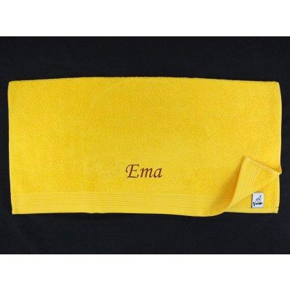 Osuška s menom Ema 70x130cm, PoloTrade (Farba Ružová, Veľkosť 130x70cm)