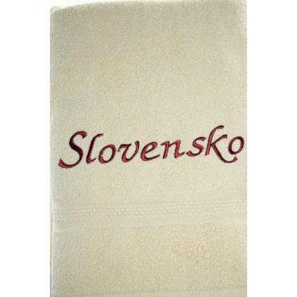 Osuška Slovensko - svetlohnedá, 70x140cm, PoloTrade (Farba Svetlohnedá, Veľkosť 140x70cm)